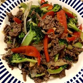牛肉とお野菜のオイスターソース炒め