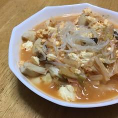 キムチと白滝のデトックススープ