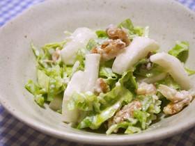 かぶ・キャベツ・クルミのシーザー風サラダ