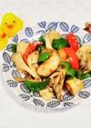 竹輪と余り野菜のオイスター醤油炒め♪