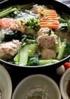 肉団子と小松菜の鍋