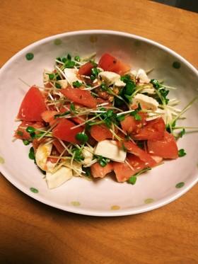 トマトとモッツァレラチーズのバジルサラダ