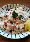 紅生姜とワカメの炒飯