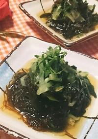 海藻サラダもずく入り!(^^)!
