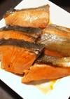 秋鮭に簡単味付けをして焼きました♪