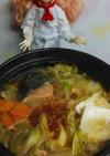 リカちゃん♡麻婆豆腐の素で麻婆石狩鍋