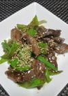 おひとりさまの牛肉とネギで中華風炒め