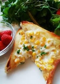 マヨコーントースト カッテージチーズin