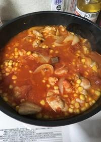エビと鶏肉のトマト煮