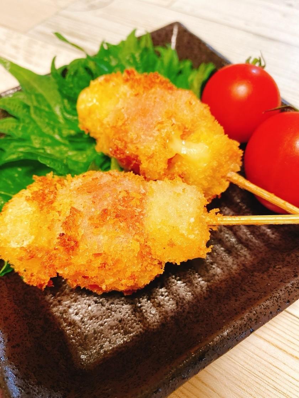 熱々♡ミニトマトとチーズの串揚げ