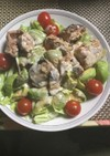 鯖水煮缶と アボカドの サラダ