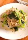 小松菜のペペロンチーノ