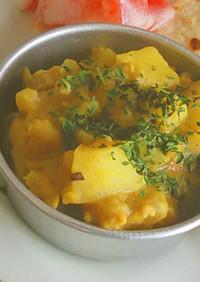 白いんげん豆とじゃが芋のカレー