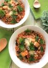 【野菜スープの素】でシーフードリゾット