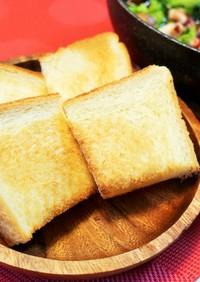 食パン4つに切って盛るだけ(5枚切りも)