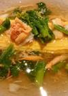 蟹と菜の花の豆乳オムレツ