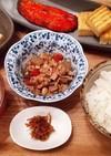 夕飯(1/13) 豚肉と水煮大豆の五目煮