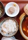 夕飯(1/12)わかめと玉葱のスープ