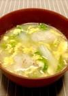 寒い時♡とろろ芋と白菜のかき玉味噌汁
