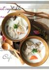 ⁂マクロビ⁑根菜ときのこの豆乳スープ⁂
