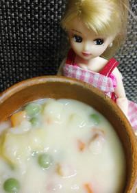 リカちゃん♡炊飯マグでホワイトシチュー
