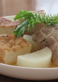 豚バラ肉と厚揚げと大根の和風ポトフ