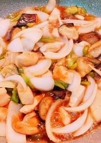 鶏胸肉と野菜の黒酢炒め