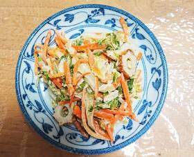 白菜とちくわのゴママヨ和え