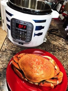 インスタントポットで冷凍蟹を温める!
