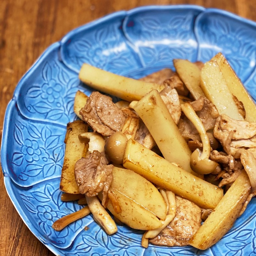 簡単&減塩・豚とじゃがいもバルサミコ炒め