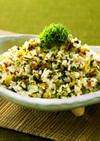 ひき肉と高菜のまぜご飯