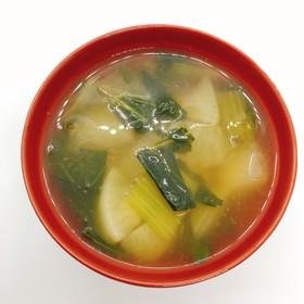 【病院】かぶのしょうがスープ【給食】