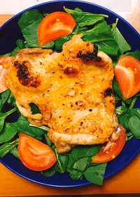 魚焼きグリルで簡単!絶品チキンステーキ