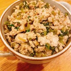 簡単&ヘルシー♪青菜と豆腐のお丼