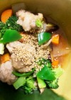 全てレンジ豚こま団子根菜ステーキ風蒸し煮