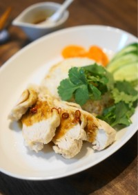 鶏むね肉下味冷凍(塩麴)でカオマンガイ