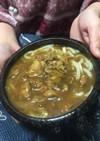 カレー粉と麺つゆでカレーうどん
