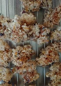 もち米と雑穀米で簡単お煎餅