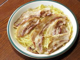 豚バラ肉とじゃがいもせん切りのガレット