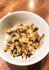 ツナとごぼうとひじきの炊き込みご飯