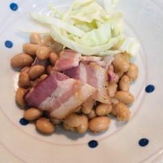 レンジで大豆ベーコン煮