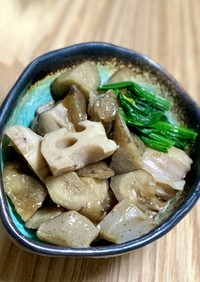 【田舎料理】フライパンで炒り鶏(筑前煮)