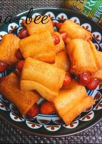 食パンで簡単♡ウインナーロール揚げパン