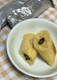 HMで!黒豆きな粉ホイルケーキ