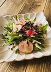 簡単副菜★ひじきと生野菜の和風胡麻サラダ