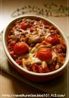挽き肉のトマトソース♡パスタグラタン