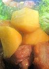 豚とサツマイモとブロッコリーで甘酢あん