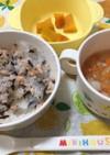 9ヶ月☆鮭ごはん 和風スープ