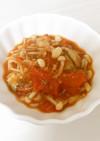 鯖の水煮缶のトマト煮込み