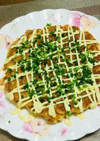 白菜と明太子のお好み焼き